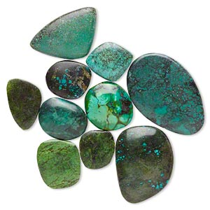 Cabochons Mixed Gemstones Greens