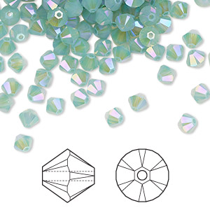 12 pcs Swarovski  4mm XILION PACIFIC OPAL Faceted Beads