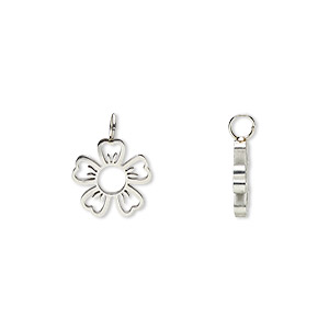 Charms Stainless Steel Silver Colored