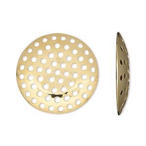 Perforated Discs Gold Plated/Finished Gold Colored