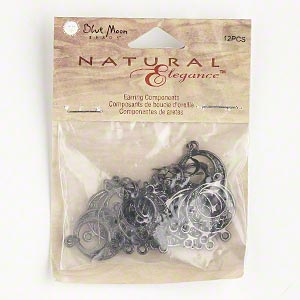 Assorted Earring Findings Gunmetal Greys