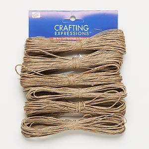 Cord, Westrim®, hemp, natural, 0.5-2mm diameter. Sold per pkg of (6) 15-yard skeins.