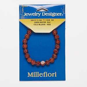 Stretch Bracelets Millefiori Multi-colored