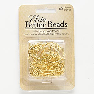 Beading Hoops Gold Plated/Finished Gold Colored