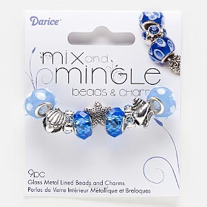 Beads Blues Rondelle
