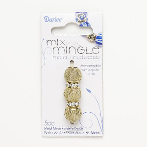 Beads Gold Colored Rondelle