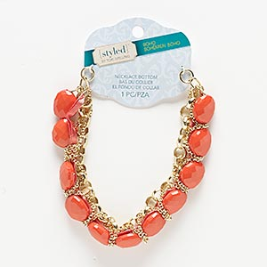 Necklace components Oranges / Peaches Styled by Tori Spelling