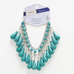 Necklace components Greens Styled by Tori Spelling