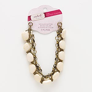 Necklace components Beige / Cream Styled by Tori Spelling