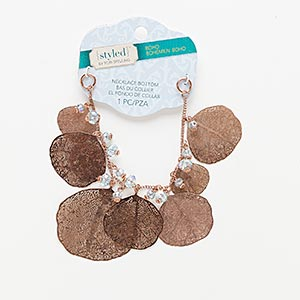 Necklace components Copper Colored Styled by Tori Spelling