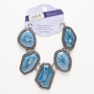Necklace components Blues Styled by Tori Spelling