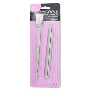 Tweezers Bead Scoop, Stainless Steel, 6-1/2 Inches 6 X 1/2 Inches. Sold Per 2-piece Set