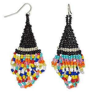 Earrings Glass Multi-colored