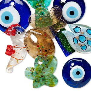 Focals Lampwork Glass Mixed Colors