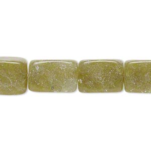 "Bead, Olive New ""jade"" (natural), Dark, Small Medium Tumbled Nugget, Mohs Hardness 2-1/2 6. Sold Per 15-inch Strand"