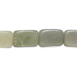 Bead, Grey Green Serpentine (natural), Small Medium Tumbled Nugget, Mohs Hardness 2-1/2 6. Sold Per 15-inch Strand