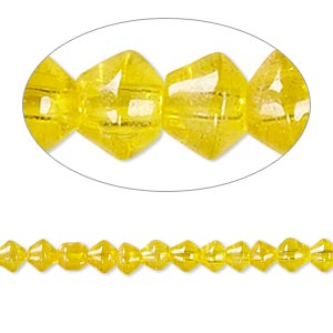 Beads Glass Yellows