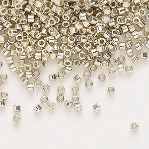 Seed Beads Glass Silver Colored