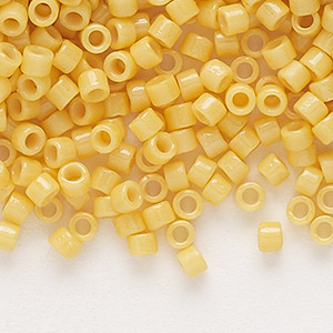 #11 7.5 grams DB2103 Delica Duracoat Seed Beads Opaque Pineapple