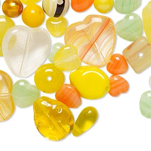 Bead Mix, Preciosa, Czech Pressed Glass, Mixed Colors, 4mm-18x15mm Mixed Shape. Sold Per 1/4 Pound Pkg, Approximately 150-200 Beads