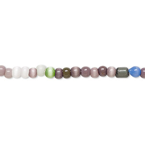 Beads Cat's Eye Glass Mixed Colors