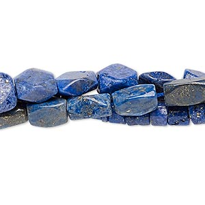 Bead Mix, Lapis Lazuli (natural / Dyed), 5x2mm-10x10mm Hand-cut Mixed Shape, Mohs Hardness 5 6. Sold Per Pkg (3) 13-inch Strands