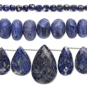 Bead Mix, Lapis Lazuli (natural / Dyed), 6mm-37x24mm Hand-cut Mixed Shape, Mohs Hardness 5 6. Sold Per Pkg (3) 8-inch Strands