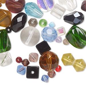 Bead, Glass / Lampworked Glass / Millefiori Glass, Multicolored, 4x2mm-24x24mm Multi-shape. Sold Per 15-inch Strand