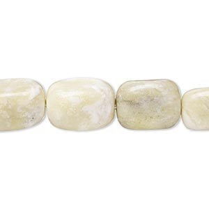 "Bead, Peridot ""jasper"" (natural), Small Medium Tumbled Nugget, Mohs Hardness 2-1/2 6. Sold Per 15-inch Strand"