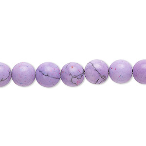 Beads Simulated Turquoise Purples / Lavenders