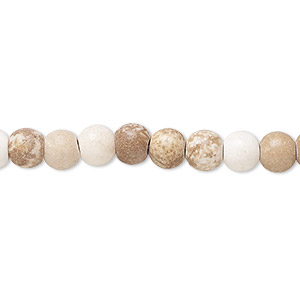 Bead, Magnesite (dyed / Stabilized), Brown White, 6x5mm Rondelle, D Grade, Mohs Hardness 3-1/2 4. Sold Per 15-inch Strand