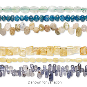 Bead Mix, Multi-gemstone (natural / Dyed / Heated / Irradiated), Mixed Colors, 4x3mm-12x11mm Hand-cut Mixed Shape, Mohs Hardness 3 7. Sold Per Pkg (3) 6-inch Strands