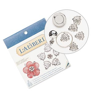 Brooch Kits Silver Plated/Finished Silver Colored