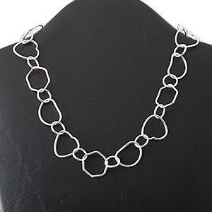 Chain Necklaces Silver Plated/Finished Silver Colored