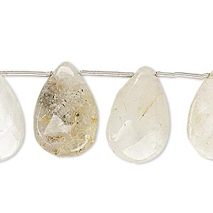 Beads Grade C Golden Rutilated Quartz