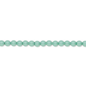 pearl, swarovski crystal gemcolors, jade, 3mm round (5810). sold per pkg of 100.