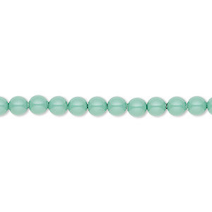 pearl, swarovski crystal gemcolors, jade, 4mm round (5810). sold per pkg of 500.