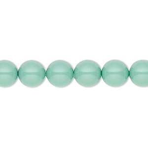 pearl, swarovski crystal gemcolors, jade, 8mm round (5810). sold per pkg of 250.