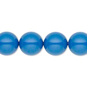 pearl, swarovski crystal gemcolors, lapis, 12mm round (5810). sold per pkg of 10.