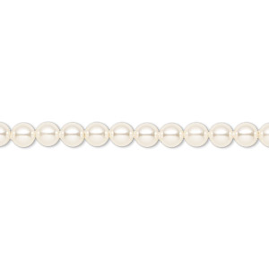 pearl, swarovski crystals, cream, 4mm round (5810). sold per pkg of 500.