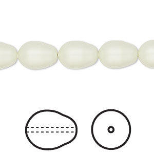 pearl, swarovski crystals, crystal pastel green, 11x8mm pear (5821). sold per pkg of 10.