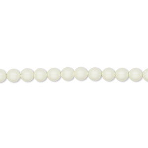 pearl, swarovski crystals, crystal pastel green, 4mm round (5810). sold per pkg of 500.