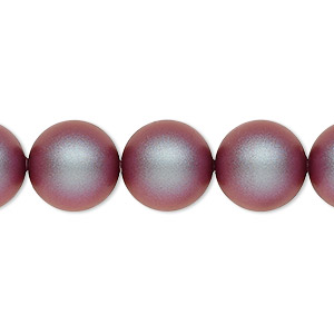 pearl, swarovski crystals, iridescent red, 12mm round (5810). sold per pkg of 100.