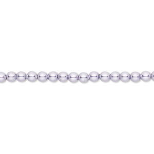 pearl, swarovski crystals, lavender, 3mm round (5810). sold per pkg of 100.
