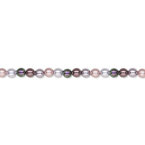 pearl, swarovski crystals, lavender faire, 3mm round (5810). sold per pkg of 100.