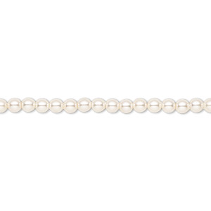 pearl, swarovski crystals, light creamrose, 3mm round (5810). sold per pkg of 100.