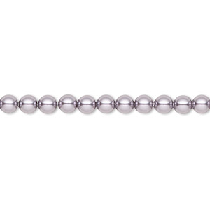 pearl, swarovski crystals, mauve, 4mm round (5810). sold per pkg of 500.