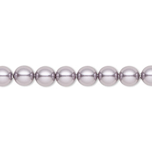 pearl, swarovski crystals, mauve, 6mm round (5810). sold per pkg of 500.