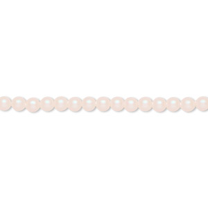 pearl, swarovski crystals, pearlescent white, 3mm round with 0.8mm hole (5810). sold per pkg of 100.