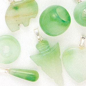 pendant / bead / component mix, quartz (dyed) and silver-finished pewter (zinc-based alloy), green, 14x8mm-29x17mm mixed shape, c grade, mohs hardness 7. sold per pkg of 10.